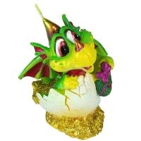 """Свеча  """"Дракон"""" в яйце зеленый 36606"""
