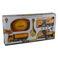 Набор Стройтехника в коробке (3 машины,каска,лопатка)  9-547 (2647)
