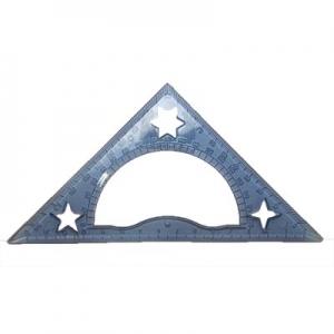 Треугольник транспортир 15см прозрачный