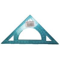 Треугольник транспортир 20см прозрачный