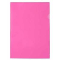 Папка уголок А4 плотная розовая Е31153-09