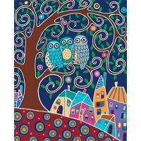 Набор для росписи по номерам 40*50см Животные, птицы. Трио КНО2477