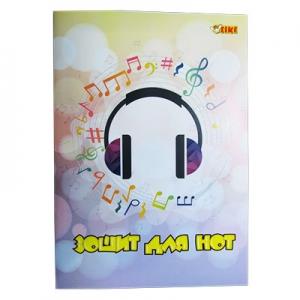 Тетрадь для нот А4 12л Tiki 50220 -TK