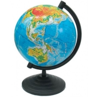 Глобус d 16см физический