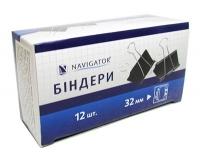 Биндер 32мм 12шт черный цена за шт 75308-NV