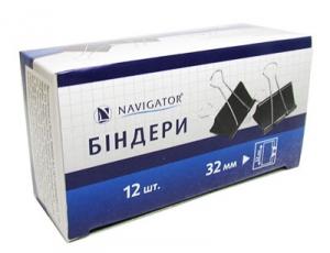 Биндер 32мм 12шт черный 75308-NV  цена за шт