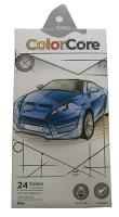 Карандаши цветные 24шт шестигранные+1 графитный Color Core MARCO 3100-24CB