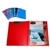 Папка А4 пластиковая с двумя прижимами Eco-Eagle 700мкм ассорти 2301-00