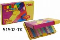 Мел цветной 12цв квадратный 120г ТІКІ 51502-TK