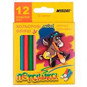 Карандаши цветные 12шт MARCO 1010-12Н