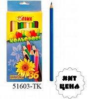 Карандаши цветные 36шт ТІКІ 51603-ТК