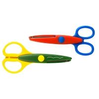 Ножницы с фигурными лезвиями 14см в дисплее 24шт 28003-28008