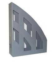 Лоток вертикальный серый пластик ЛВ-01