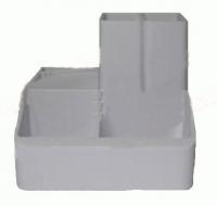 Подставка для ручек серый СТРП-04