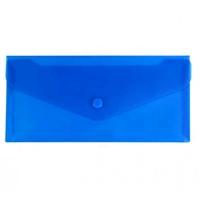 Папка на кнопке евроконверт гориз синяя Е65 N31306-02