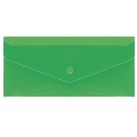 Папка на кнопке евроконверт гориз зеленая Е65 N31306-04