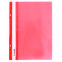 Скоросшиватель А5 Economix глянец красный с перфорацией Е31506-03