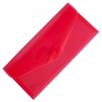 Папка на кнопке евроконверт гориз красная Е65 N31306-03