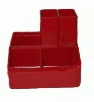 Подставка для ручек красный СТРП-04