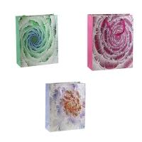 Пакет подарочный Цветок глитер  26*32*10 см арт.920М  3-53 (21557)