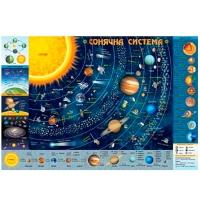 Плакат А2 Детская Карта солнечной системы 76858  Зирка