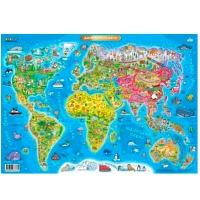 Плакат А2 Детская Карта Мира Зирка 75858