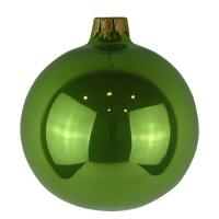 Стеклянный шар d80мм салатовый опал 1321970