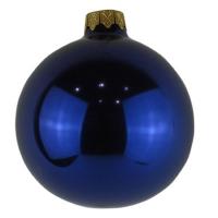 Стеклянный шар d80мм темно-синий опал 33370