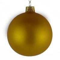 Стеклянный шар d80мм желтый матовый 26650