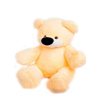 Мягкая игрушка Бублик мишка №1,5 кремовый