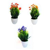 Цветы искусственные в горшке  8-187 (C1-7246)