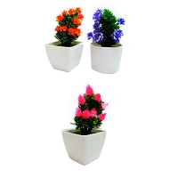 Цветы искусственные маленькие в горшке  8-188 (C1-7246)