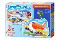 Пазлы Castorland 2хContour Самолет В-020072