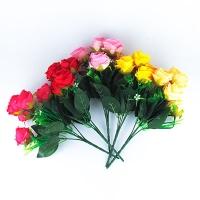 Цветы искусственные Букет Роз маленьких  10-123 (113)