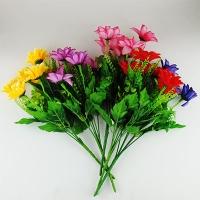 Цветы искусственные Букет Полевые 6 шт 10-125 (113)