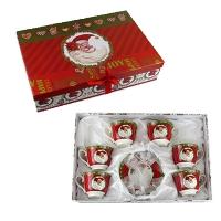 Набор чашек с блюдцем 6 шт Santa, в коробке 5-597