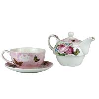 Набор в коробке чайник, чашка, блюдце, керамика 5-602