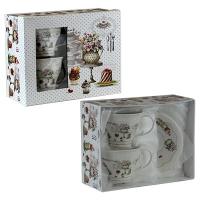 Набор 2 чашки+2 блюдца керамика в коробке 5-604