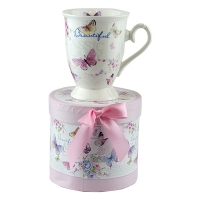 Чашка Бабочки керамика в коробке 5-605
