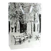 Пакет подарочный новогодний Зима 44*31*12см  1957L 5-314 (10345)