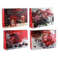 Пакет подарочный новогодний MIX 32*45*12см 1944WL 5-315 (10345)