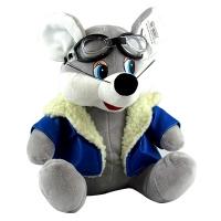 Игрушка мягкая Мышка в очкахи и в синей куртке  5-209 (1331)