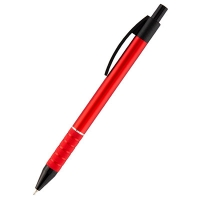 Ручка масляная синяя автомат Prestige корпус красный Axent AB1086-06-02