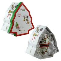 Набор кружек Елочка, керамика, 2 чашки+2 тарелочки 5-595