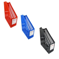 Лоток вертикальный белый,черный,синий,красный пластик 2511 1-485 (24339)