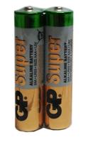 Батарейка мини пальчик GР SUPER ALKALINE 24A-S2 щелочная LR03 AAA Цена за шт