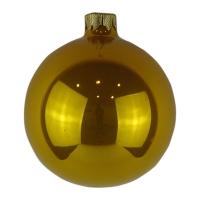 Стеклянный шар d80мм желтый, лимонный опал 13219