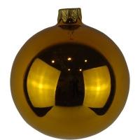 Стеклянный шар d80мм темно-золотой глянец 26651