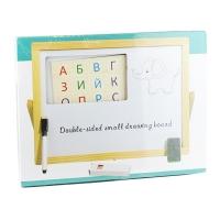 Доска сухостираемая магнитная на подставке с алфавитом 26,5*35см арт 0525 9-679 (2228)