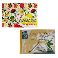 Альбом для рисования А4 40л планшет 160г/м2 А-29